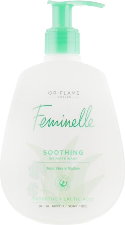 """Успокаивающий гель для интимной гигиены """"Алоэ вера и мальва"""" - Oriflame Feminelle Soothing Intimate Wash"""