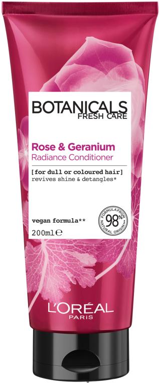 """Бальзам """"Роза и Герань, Эликсир Сияния"""" для окрашенных и тусклых волос - L'Oreal Paris Botanicals Fresh Care Rose & Geranium Radiance Conditioner"""