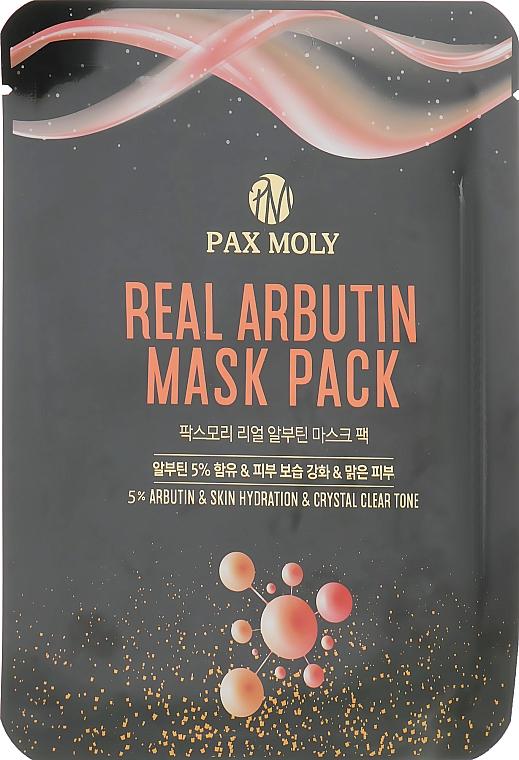 Маска тканевая с арбутином - Pax Moly Real Arbutin Mask Pack
