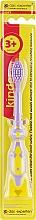 Духи, Парфюмерия, косметика Детская зубная щетка с мягкой щетиной, желто-фиолетовая - Das Experten