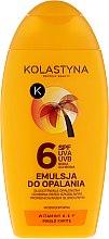 Духи, Парфюмерия, косметика Водостойкая эмульсия для загара с маслом карите - Kolastyna Emulsion SPF 6