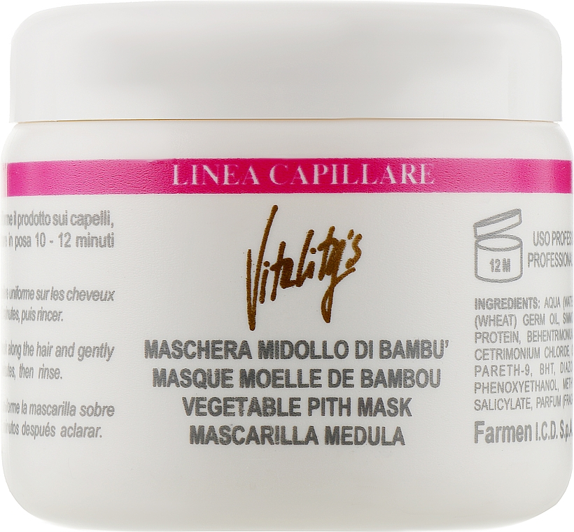 Маска укрепляющая с бамбуком - Vitality's Linea Capillare Mask