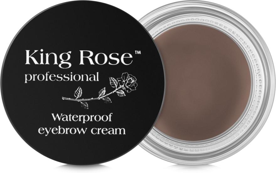 Водостойкий крем для бровей + кисточка - King Rose