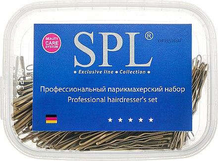 Невидимки для волос 50 мм, 50913, фрезерованные золотые - SPL — фото N1