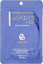 "Духи, Парфюмерия, косметика Тканевая маска для лица ""Пептиды змеи + EGF"" - Mitomo Essence Sheet Mask Syn-Ake + EGF"