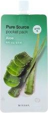 Духи, Парфюмерия, косметика Ночная маска с экстрактом алоэ вера - Missha Pure Source Pocket Pack Aloe