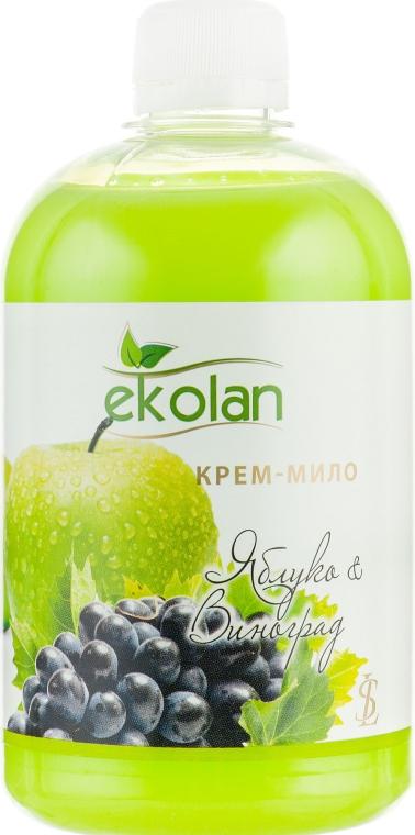 """Крем-мыло """"Яблоко-виноград"""" - Ekolan (сменный блок)"""