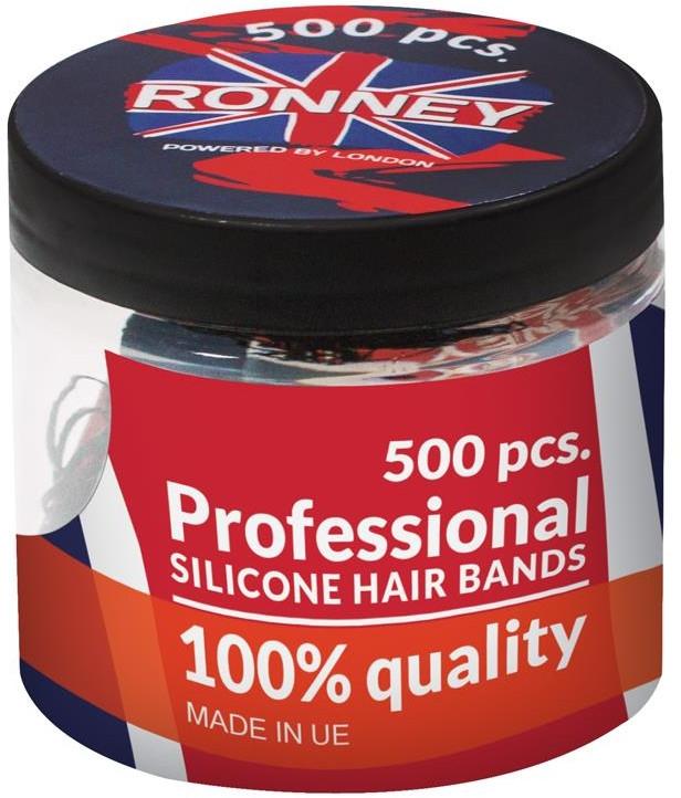 Резинки силиконовые, прозрачные - Ronney Professional Silicone Hair Bands