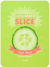 Духи, Парфюмерия, косметика Тканевая маска с экстрактом огурца - A'pieu Cucumber Slice Sheet Mask