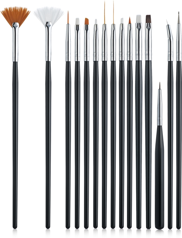Набор кистей для дизайна ногтей, 15шт - Canni Brush Set