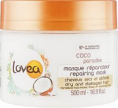Духи, Парфюмерия, косметика Маска для волос с кокосом, восстанавливающая - Lovea Nutritive Mask