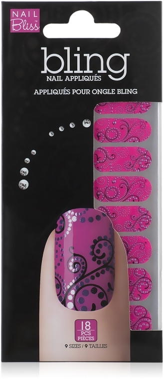 Аппликации для ногтей - Dashing Diva Nail Bliss Bling Nail Appliques