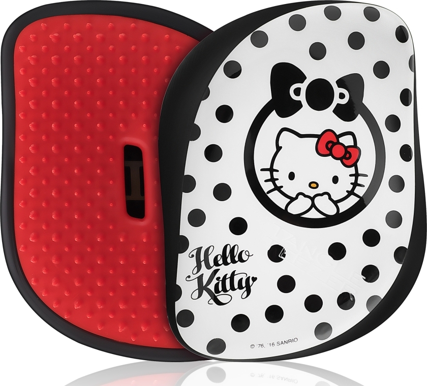 Расческа для волос - Tangle Teezer Compact Styler Smooth & Shine Brush Hello Kitty Black