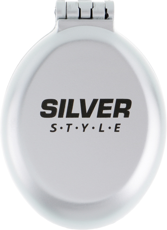 Расческа складная с зеркалом, РМ-2063, серая - Silver Style