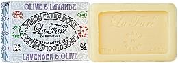 "Духи, Парфюмерия, косметика Экстра нежное мыло ""Лаванда и олива"" - La Fare 1789 Extra Smooth Soap Lavender And Olive"