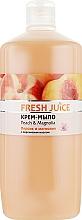 """Духи, Парфюмерия, косметика Крем-мыло с персиковым маслом """"Персик и магнолия"""" - Fresh Juice Peach & Magnolia"""