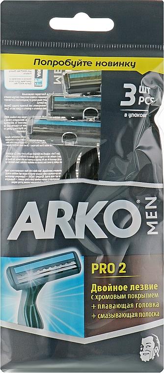 "Бритвенный станок ""T2 Pro Double"", 3шт - Arko Men"