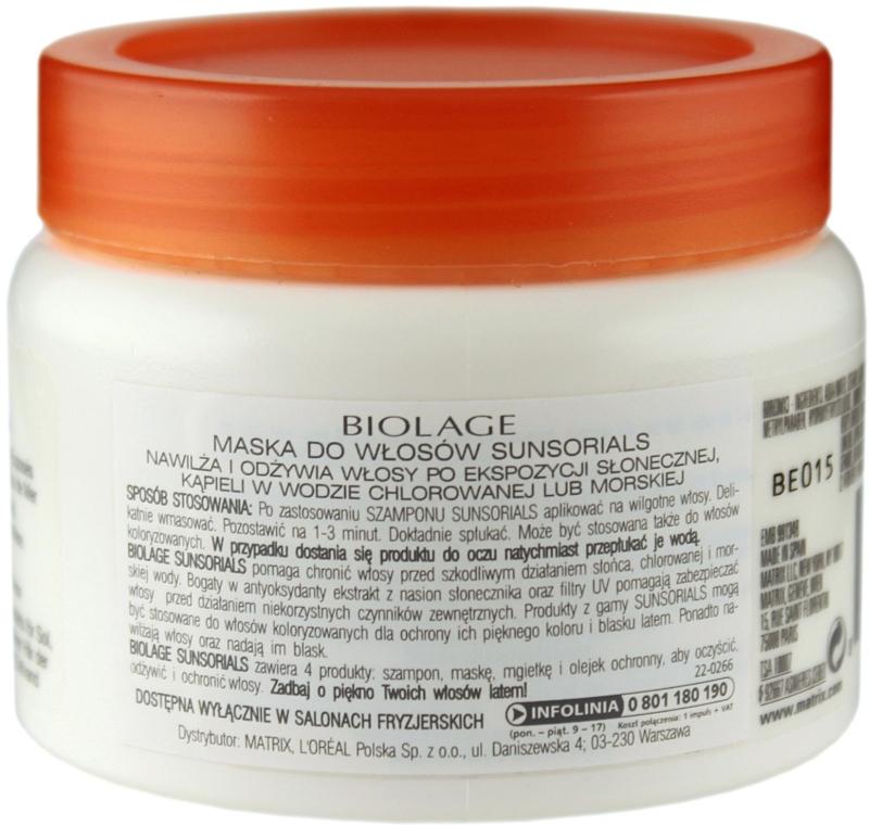 Маска для волосся після сонця - Matrix Biolage Sunsorials Sun Repair Treatment — фото N3