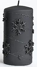 Духи, Парфюмерия, косметика Декоративная свеча, черная, 7х10см - Artman Snowflake Application