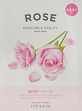 Духи, Парфюмерия, косметика Тканевая маска - It's Skin The Fresh Rose Mask Sheet