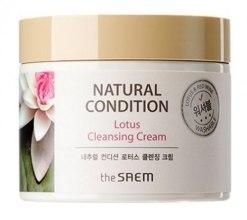 Духи, Парфюмерия, косметика Крем для очищения кожи с лотосом - The Saem Natural Condition Lotus Cleansing Cream