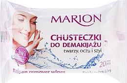 Духи, Парфюмерия, косметика Салфетки для снятия макияжа с лица, глаз и шеи, 20 шт. - Marion