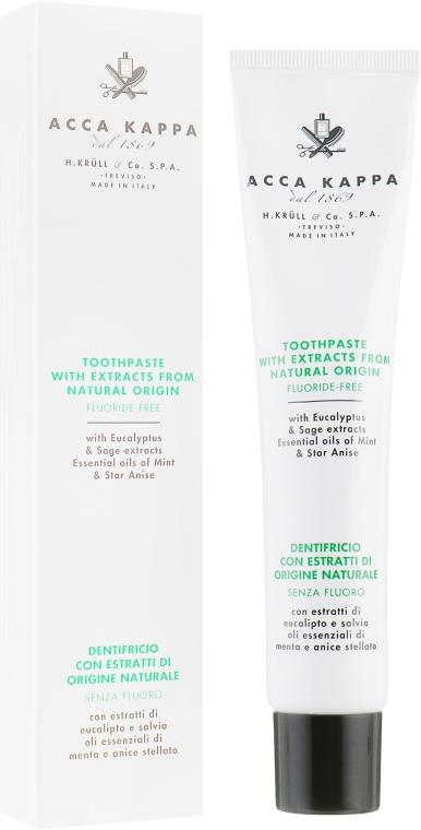 Натуральная зубная паста без фтора - Acca Kappa Natural Fluoride-Free Toothpaste
