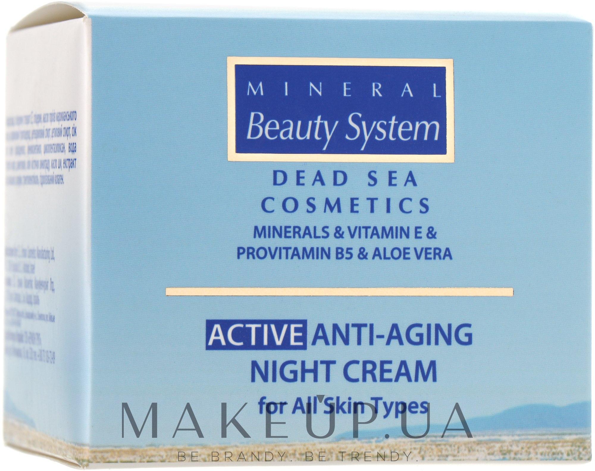 Антивозрастной ночной крем для всех типов кожи 40+ - Mineral Beauty System Active Anti-Aging Night Cream — фото 50ml