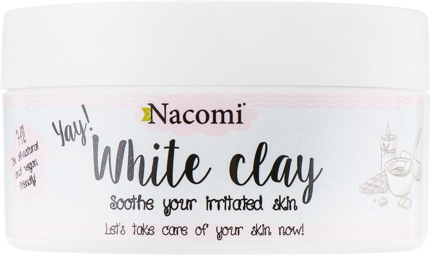 Белая глина для лица - Nacomi White Clay