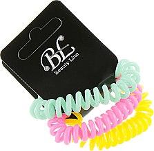 Духи, Парфюмерия, косметика Набор резинок для волос, 405004, мятная+малиновая+желтая - Beauty Line