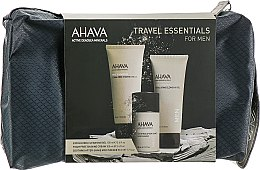 Духи, Парфюмерия, косметика Набор мужской для путешествий - Ahava Travel Kit For Men Time To Energize (clea/gel/100ml + sh/cream/100ml + af/sh/50ml + bag)