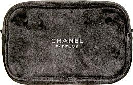 Духи, Парфюмерия, косметика Косметичка на молнии черная, замшевая - Chanel Parfums