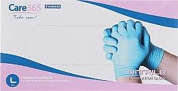 Духи, Парфюмерия, косметика Перчатки нитриловые, неопудренные, голубые, размер L - Avenir Cosmetics