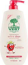 Духи, Парфюмерия, косметика Крем-гель для душа детский с экстрактом малины - L'Arbre Vert Cream Shower Gel