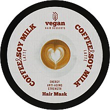 Духи, Парфюмерия, косметика Маска для волос - Vegan Desserts Hair Coffee & Soy Milk Latte Mask