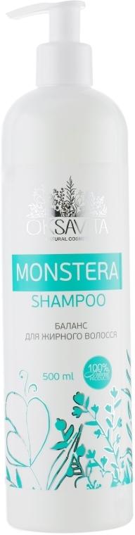 Шампунь баланс для жирных волос - Oksavita Monstera Shampoo