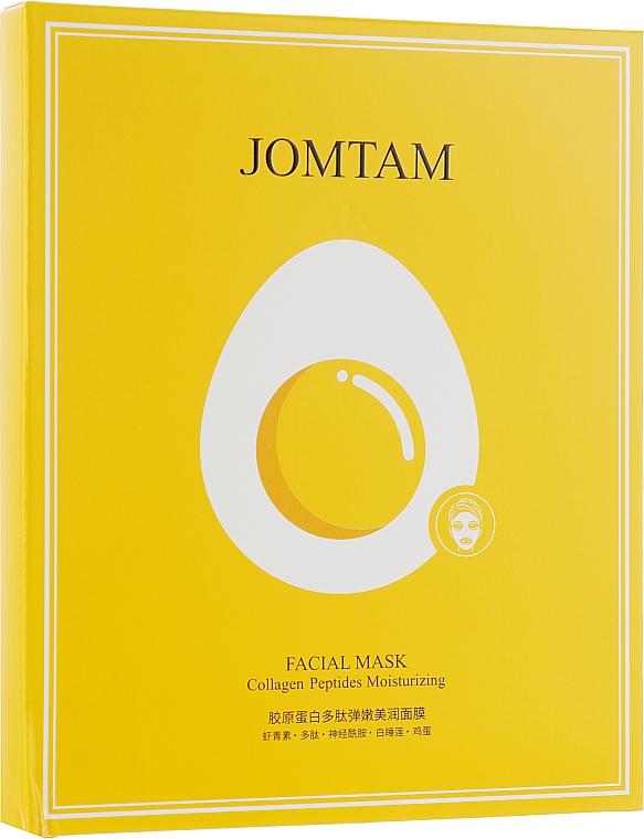 Питательная несмываемая маска с пептидами коллагена - Jomtam Collagen Peptides Moisturizing Facial Mask