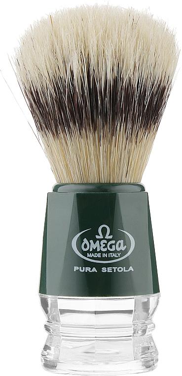 Помазок для бритья, 10218, зеленый - Omega