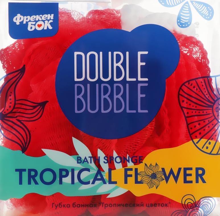 """Губка банная """"Тропический цветок"""", красная - Фрекен Бок"""