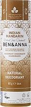 """Духи, Парфюмерия, косметика Дезодорант на основе соды """"Индийский мандарин"""" (картон) - Ben & Anna Natural Soda Deodorant Paper Tube Indian Mandarine"""