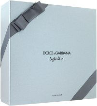 Духи, Парфюмерия, косметика Dolce&Gabbana Light Blue Pour Homme - Набор (edt 125 + sh/g 50 + a/sh balm 75)