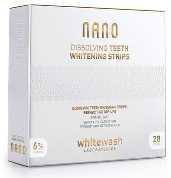 Профессиональные растворимые отбеливающие полоски - WhiteWash Laboratories NANO Dissolving Teeth Whitening Strips