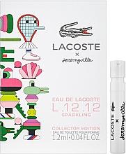 Духи, Парфюмерия, косметика Lacoste Eau De Lacoste L.12.12 Sparkling Collector Edition x Jeremyville - Туалетная вода (пробник)