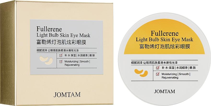 Гидрогелевые коллагеновые патчи от темных кругов под глазами - Jomtam Fullerene Light Bulb Muscle Eye Mask