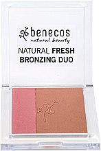 Духи, Парфюмерия, косметика Румяна-бронзер для лица - Benecos Natural Fresh Bronzing Duo