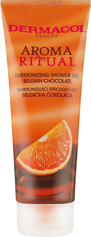 "Гель для душа гармонизирующий ""Бельгийский шоколад"" - Dermacol Body Aroma Ritual Harmonizing Shower Gel"