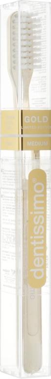 Зубная щетка, средней жесткости - Dentissimo Medium Gold