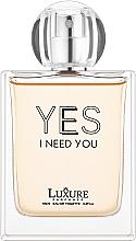 Духи, Парфюмерия, косметика Luxure Yes I Need You - Парфюмированная вода