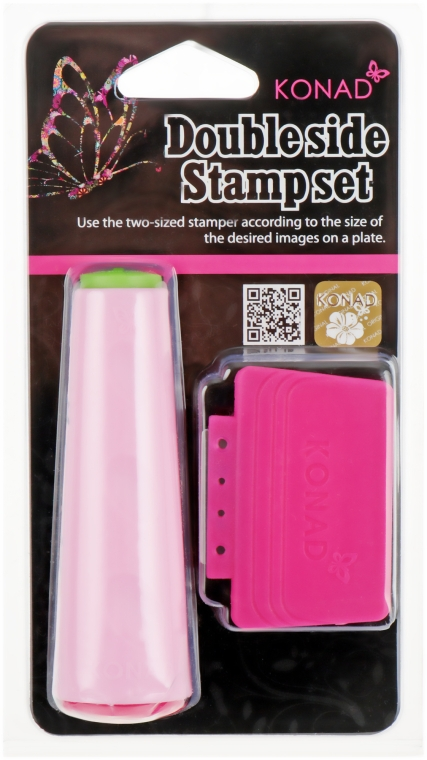 Двухсторонний штамп со скребком - Konad Double Stamp and Scraper