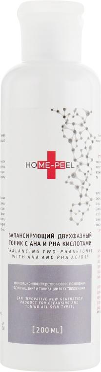 Балансирующий двухфазный тоник с АНА и РНА кислотами - Home-Peel